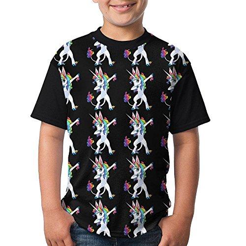 Posters Unicorn Dabbing Boy Girl Soft Shirts 3D Printed Tee Short Sleeve Tops Medium
