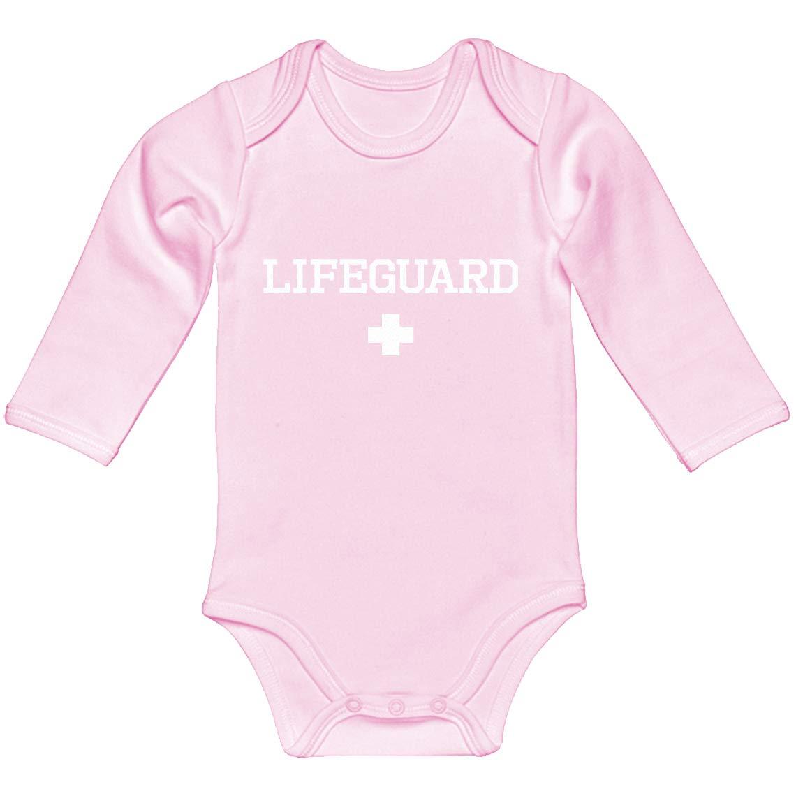 Baby Romper Lifeguard 100/% Cotton Long Sleeve Infant Bodysuit