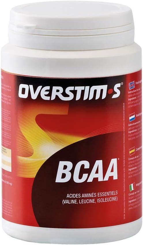 OVERSTIM.s - Bcaa (180 Pastillas) - Ideal Para Deportes De Resistencia - Fuente De Proteínas - Mantenimiento Y Desarrollo De Las Masa Muscular 180 g