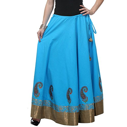 Pezzava Cotton Handicrfats Long Printed Skirt For Export Women's Indian ESTqA7wn