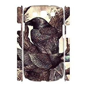 Crow YT011396 3D Art Print Design Phone Back Case Customized Hard Shell Protection Samsung Galaxy S3 I9300