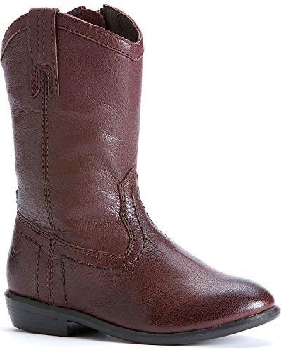 Frye Toddler-Girls' Carson Pull-On Boot Dark Brown 7.5 D(M) US by FRYE (Image #1)