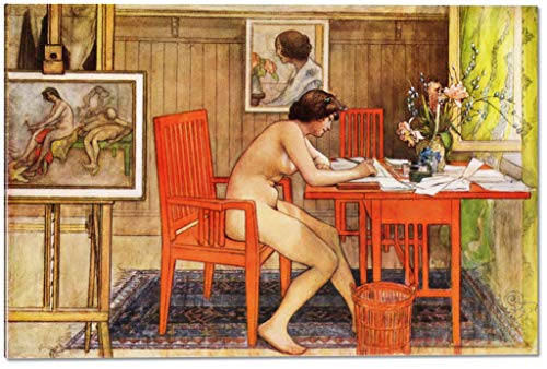 Model Writing Postcards by Carl Larsson - 15