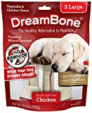 naturally shed antlers - DreamBone Vegetable & Chicken Dog Chews, Rawhide Free, Large, 3-Count