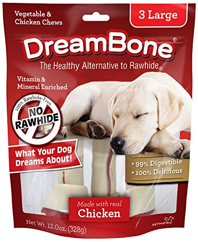 Dreambone Vegetable & Chicken Dog Chews, Rawhide Free, Large, 3-Count