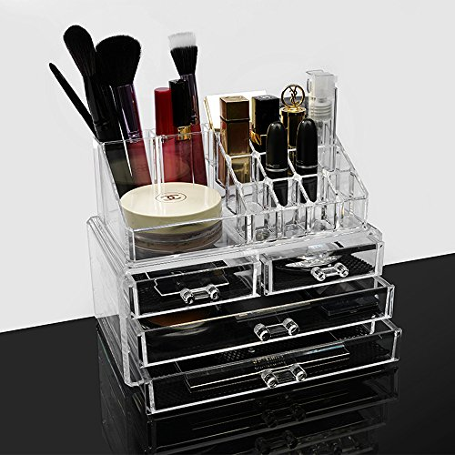Acrylic Makeup Brush Storage Lipstick Holder Vanity Organize
