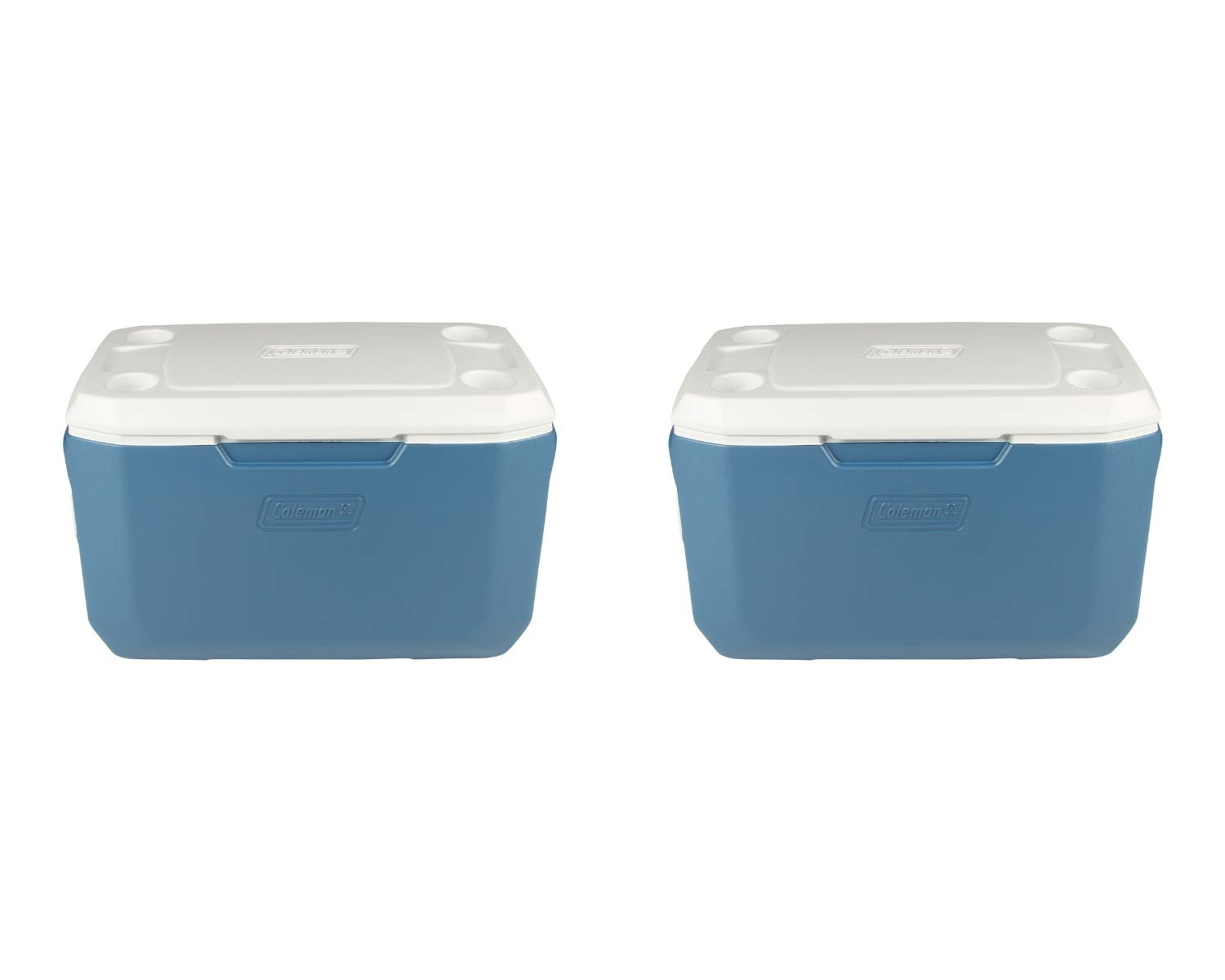 Coleman 70-Quart Xtreme 5-Day Heavy-Duty Cooler, Blue (2 Set, 70-Quart, Blue)