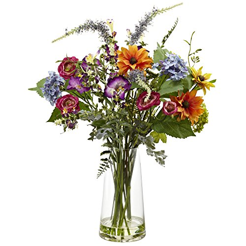 Spring Garden Floral Arrangement with Vase
