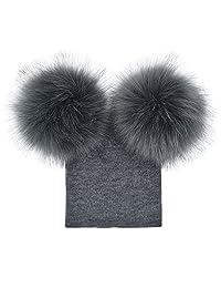 Baby Girls Boys Pompom Hat,Winter Warm Knit Beanie Cap Changeshopping