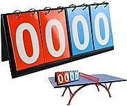 APORO 4-Digital Portable Table Top Scoreboard Flipper, Multi Sports Score Flip Scoreboard (0-99)