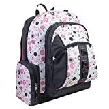 AKA Sport | Molecular Backpack in White with Pink/Charcoal Print (13''x19''x8'' inches)