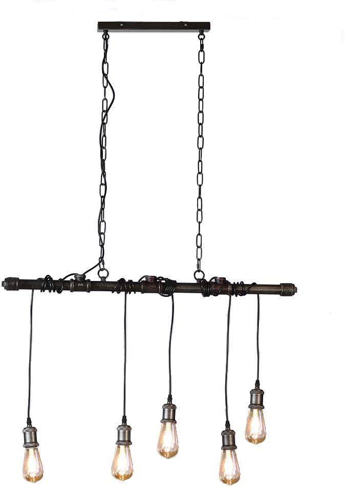 Lámpara de techo Salvador de 5 focos, diseño industrial, vintage ...