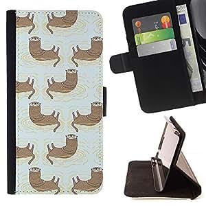 Momo Phone Case / Flip Funda de Cuero Case Cover - Gato divertido lindo Pintura Dibujo trullo - LG G4c Curve H522Y (G4 MINI), NOT FOR LG G4