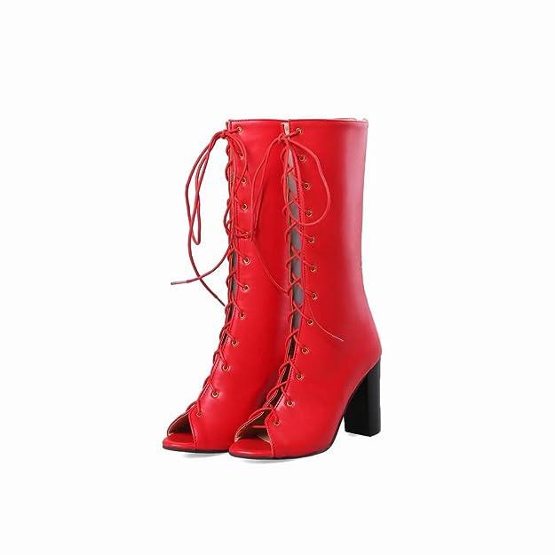 MissSaSa Damen Sommer high Heel Schnür-Stiefel  Amazon.de  Schuhe    Handtaschen 3058799358