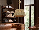 Chandelier Rope Hat American Country Restaurant Coffee Shop Decoration Garden Aisle Pendant Lights 370220Mm