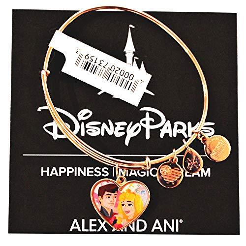 - Alex and Ani Disney Parks Sleeping Beauty Princess Aurora and Prince Phillip Love Bangle Bracelet