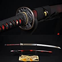 apanese Samurai Sword Katana 1060high Carbon Steel Full Tang Blade Can Cut Tree