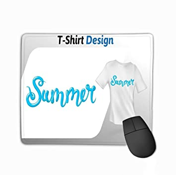 Mouse Pad Blue Summer Word Print Mock up Design Template ...