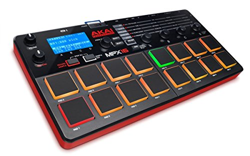 Akai Professional MPX16 | 16-Pad Sample Player and Recorder with SD Card Slot and Built-In Mic by Akai Professional
