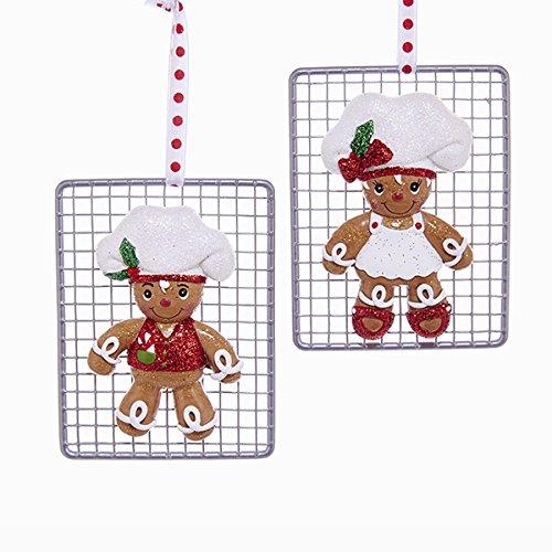 Gingerbread Girl Ornament (Kurt Adler GINGERBREAD BOY/GIRL COOKIE RACK ORNAMENT 2A)