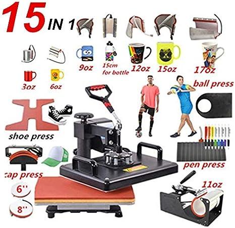 WANG 15 En 1 Combo Pluma de la Prensa del Calor de la máquina ...