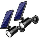 #7: InnoGear Upgraded 2-in-1 Motion Sensor Solar Lights Waterproof Landscape Lighting 8 LED Spotlight Wall Light Security Lighting with 4 Modes Auto On/ Off for Pathway Yard Walkway Patio Deck, Pack of 2