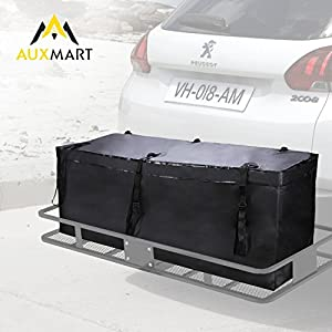 AUXMART Roof Top Cargo Bag Soft Rooftop Luggage Carriers with 6Pcs Short Straps