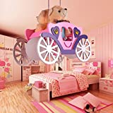 Modern children room pendant lights boy girl bedroom kindergarten Bear car wood+glass lampshade pink/ blue pendant lamps ET31 lo11 ( Size : Pink )