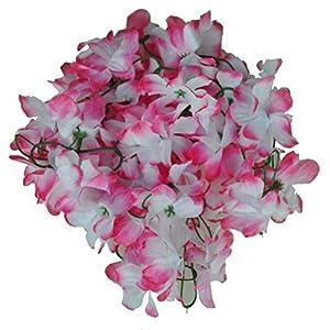 Flower Vine - Estone 8color Wedding Home Decor Artificial Fake Azalea Flower Vine Plants Garland 2m Pink - Flower Lights Pink Hair s Mirror Artificial Roses Sticker Accessories Blue Decor 84