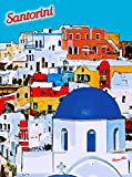 SANTORINI ISLAND GREECE AEGEAN GREEK EUROPEAN TRAVEL ADVERTISEMENT ART POSTER