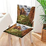 Mikihome Premium Chair Cushion Utah Plateau Mojave Desert Southwest Erosi Navajo Art 2 Piece Set Comfort Memory cushionsd Mat:W17 x H17/Backrest:W17 x H36