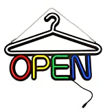 MaxLit 22.5'' X 16'' New LED Tube Neon Sign- OPEN- For Laundromat, Dry Cleaner, Outfitter, Boutique