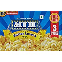 Act II Microwave Popcorn Butter Lovers, 297g (Pack of 3)