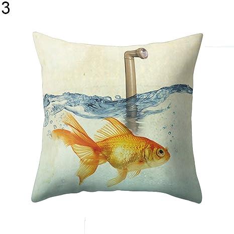 Lc3w9youc - Funda Decorativa para cojín, diseño de pez ...