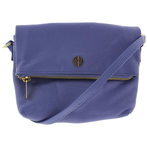 Chambray Pebbled Crossbody Giani Womens Leather Handbag Bernini Bright q0qHxp7w