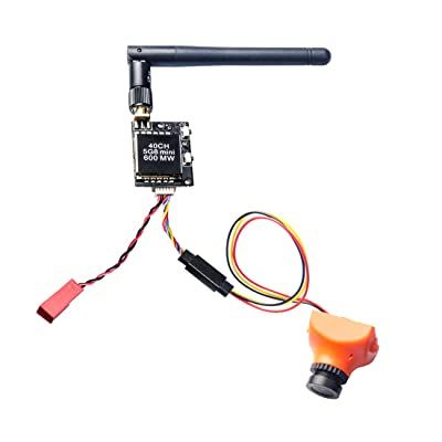 AKK KC02 600mW FPV Transmitter with 600TVL 2.8MM 120 Degree High Picture Quality Sony CCD Camera for FPV Multicopter: Toys & Games [5Bkhe0506925]