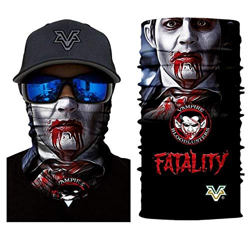 3D Vampire Fatality Tube Neck Face Scarf Lower Half Face Mask Motorcycle Bicycle Shield Sun Air Soft Outdoor Biker Riding Masks No.140 ()