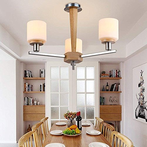 (CWJ Chandelier- 8 lights chandelier modern/contemporary traditional/classic vintage country wood feature for led wood living room bedroom dining room -interior lighting chandeliers,3)