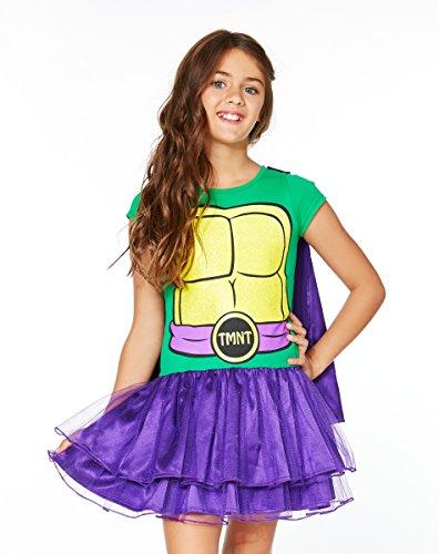 [Spirit Halloween Kids' Teenage Mutant Ninja Turtles Donatello Tutu Dress Costume] (The Spirit Of Halloween Costumes)