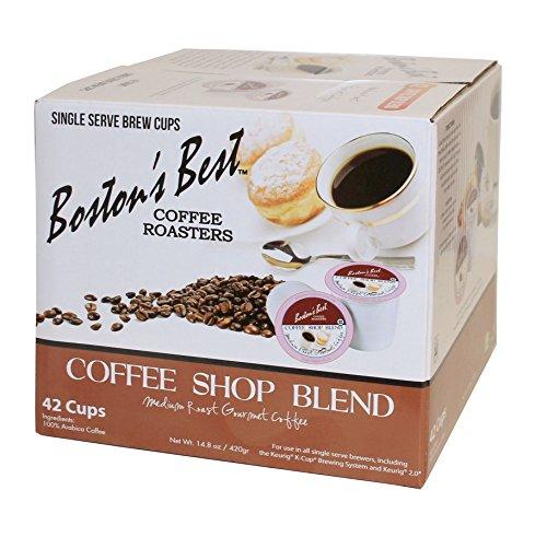 Boston's Best Single Serve K-Cup Coffee, Coffee Shop Blend, 42 (Boston Single)
