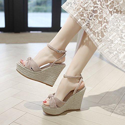 KaiGangHome Escarpins Sandales sauvages de mode féminine fond épais avec des talons hauts chaussures à talons hauts (Color : With height 8cm, Size : 39) With Height 8cm