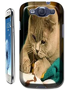 Lovely Cats Play stitchwork Cute nice cat cell phone cases for Samsung Galaxy S3