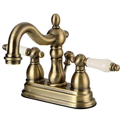 durable modeling KINGSTON BRASS KS2612ZL Silver Sage 4-Inch ADA Lavatory Faucet, Polished Brass