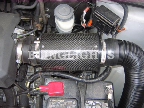 Honda Ridgeline Carbon Fiber Cold Air Intake Kit Performance Engine Motor 3.5L