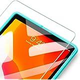 ESR iPad 10.2 フィルム 2019(第7世代) ガラスフィルム 液晶保護 [簡単貼り付けフレーム][耐スクラッチ][硬度9H] HD透明度透明度プレミアム強化ガラス液晶保護フィルム 1枚入り