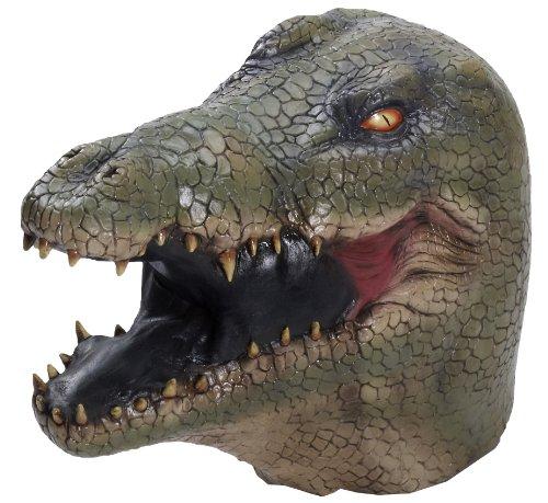 Reptile Mask (Forum Novelties Men's Alligator Latex Mask, Multi Colored, One Size)