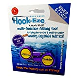Hook-Eze Fishing Tool (Purple) Hook Tying & Safety Device + Line Cutter - Cover Hooks on 2 Poles & Travel Safely fully rigged. Multi function Fishing Device.