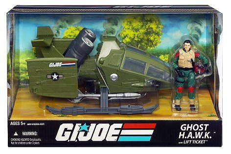 G.I. Joe 25th Anniversary Ghost H.A.W.K. (HAWK) with Lift Ticket Action Figure 3.75 Inch
