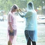 Dreamyth 10 Pcs Tourism Disposable Raincoat Thicken Adult Outdoor Raincoat Travel