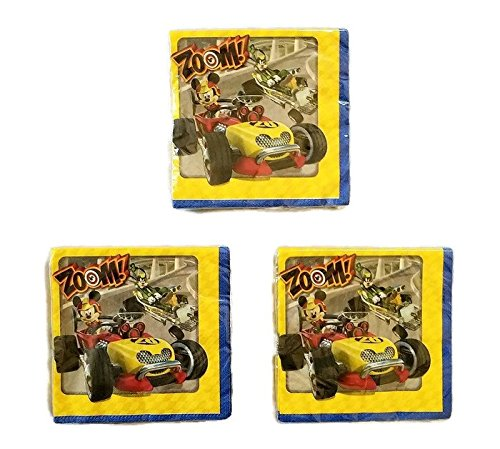 Mickey Mouse 'Mickey and The Roadster Racers' Party Bundle Lunch Napkins (48)